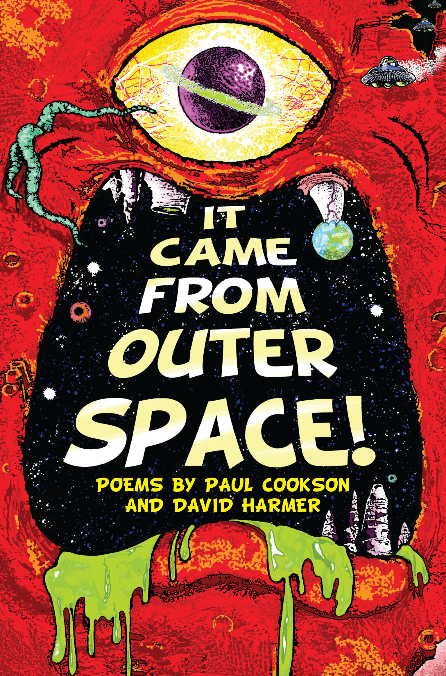 Carl flint 39 s incredible cover art for our new book it for The thing that came from outer space