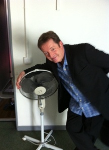 Paul Cookson with his biggest fan!