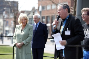 This is me announcing the fact that the three prizewinners (one first and two runners up) were going to get a certificate from HRH the Duchess of Cornwall and a book of mine and a book of Craig's as a prize. As you can see, HRH The Duchess agreed with me when I said of the two the certificate was better.