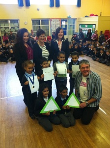 David with some prizewinners