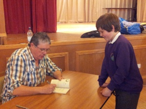 Everybody was given a copy of the new book by Me and my friend Paul Cookson as a prize, so I signed them all.